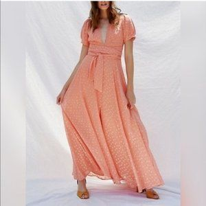 FREE PEOPLE - Wanderer Coral Maxi Dress